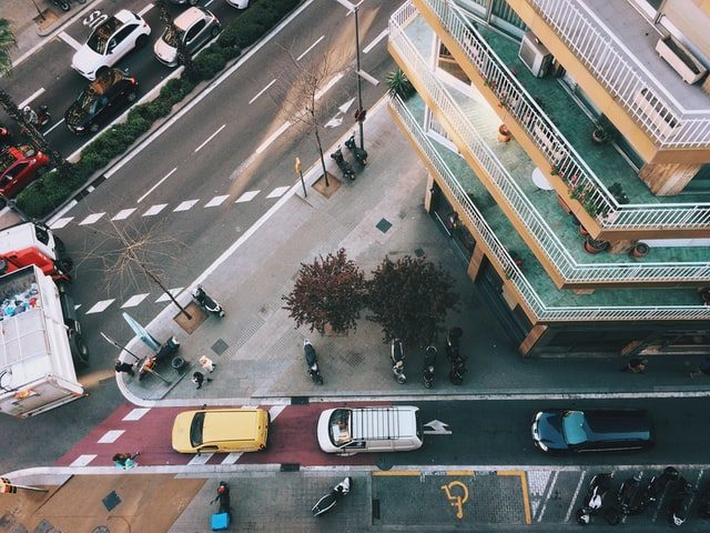block in barcelona from above
