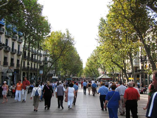 las ramblas in barcelona - best area to stay in barcelona