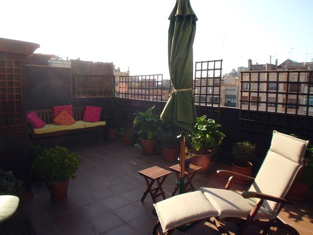 rooftop terrace with furnished apartment