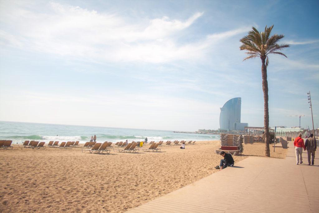 view of beach towards W hotel