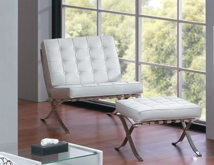 Swell Barcelona Ottoman The Barcelona Chair Caraccident5 Cool Chair Designs And Ideas Caraccident5Info