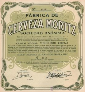 registration paper of moritz factory