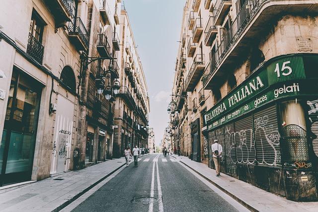 street in gotic