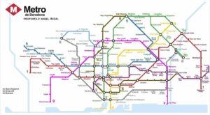 Plan de métro de Barcelone
