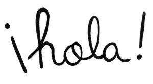 word 'hola' in playful letters