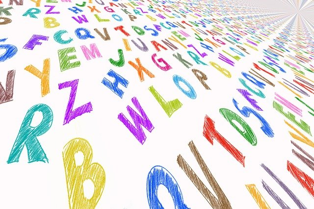 letters in colors