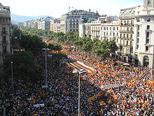 reasons catalonian independence protest demonstration
