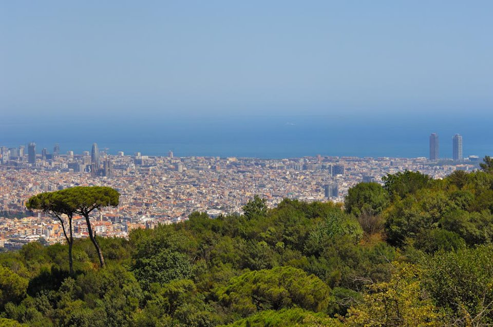view from Collserola Park Barcelona