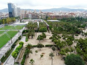 view from above Joan Miro Park Barcelona