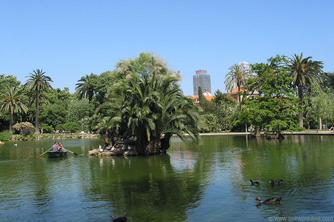 on the lake in parc de la ciutadella barcelona