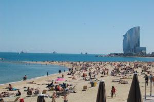 Beach stretch in Barcelona