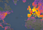 Heatmap of most popular cities in the world