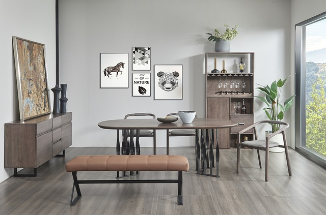 furniture in dining room