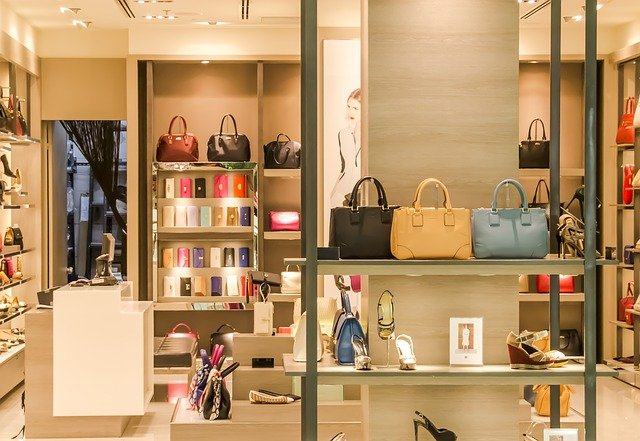 shop with hand bags