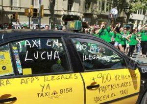Catalonia Taxi protest