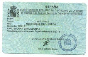 NIE-card