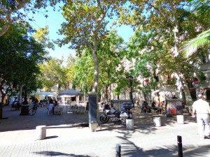 Huesca Square in Barcelona