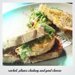 toast with eggs and arugula