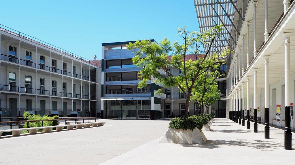 buildings of university pompeu fabra in barcelona
