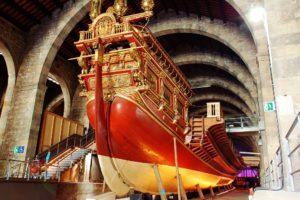 inside maritime museum barcelona