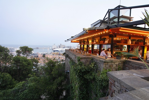 Enjoy great food with mountain views in Barcelona