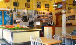 inside seafood restaurant barcelona