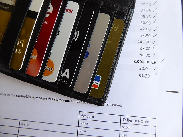 credit cards and bank statement