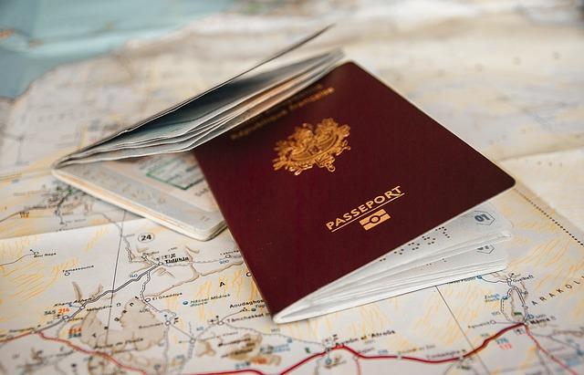 passports on map