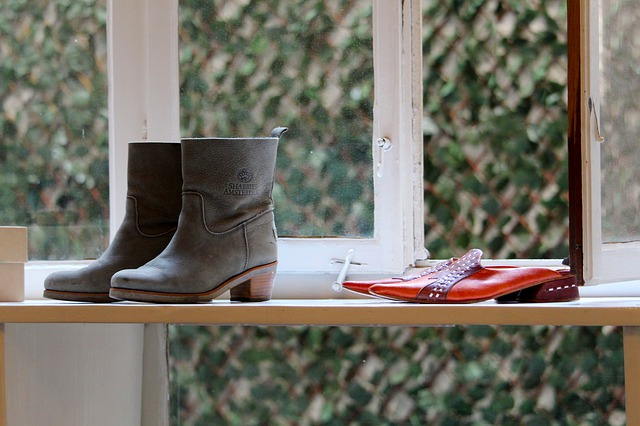 shoe store window