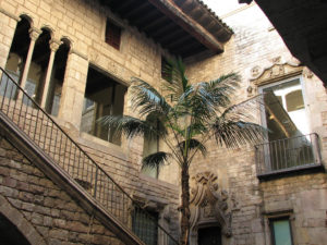 courtyard picasso museum barcelona
