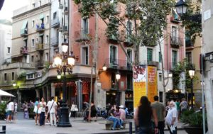shopping street in barcelona