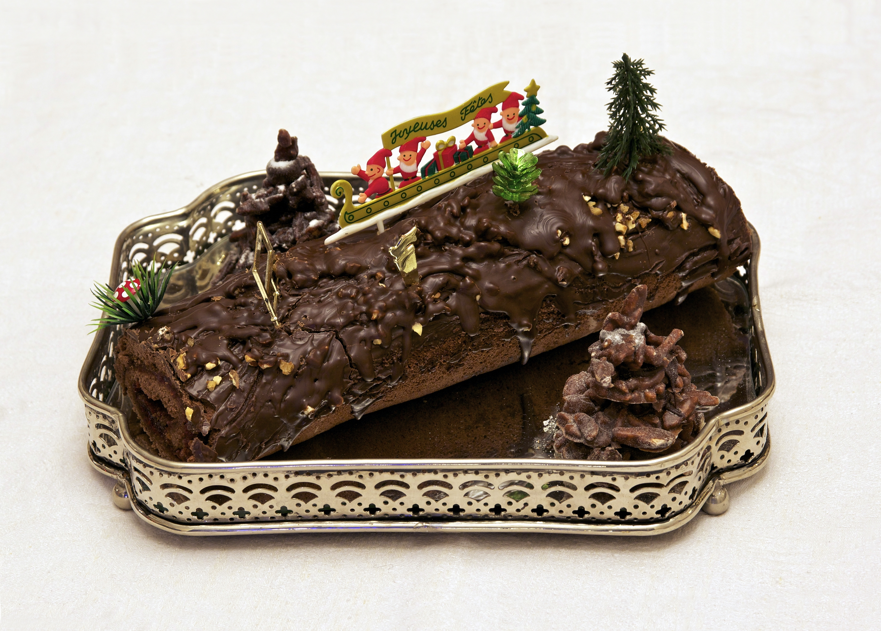 Spanish recipes: Christmas log
