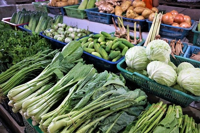 vegetables in supermarket