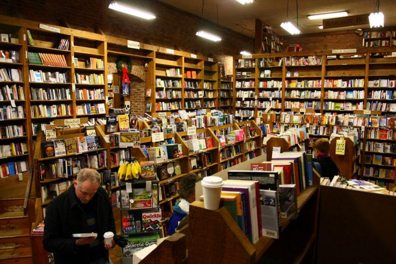 inside bookstore