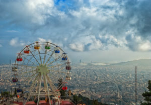 View from Tibidabo Barcelona