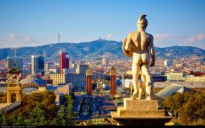 Selfie spot from Montjuic MNAC Barcelona