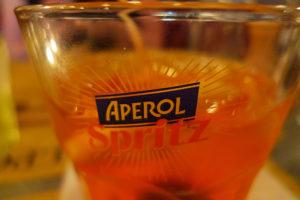 glass of aperiol spritz