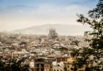 barcelona, city, view, sargrada familia, city