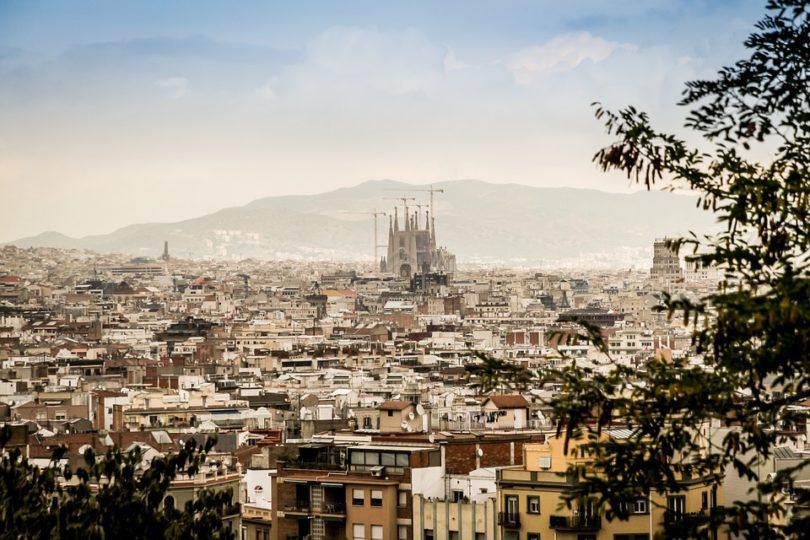 barcelona, city, view, sargrada familia, city