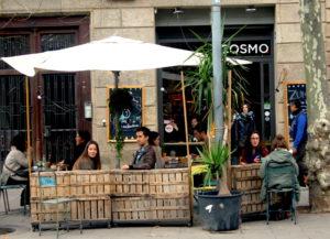 terrace at cosmos cafe barcelona