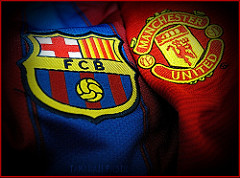 Man u vs barca - bar manchester article