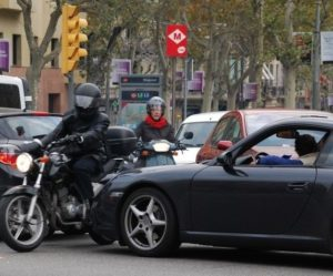 Riding a scooter or motorbike in Barcelona