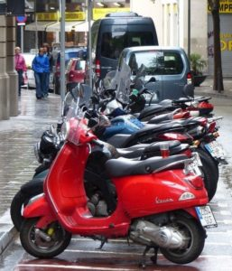 Scooters in Barcelona