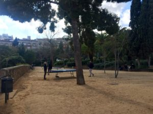 Parks for exercise in Barcelona - Parc de Les Aigües