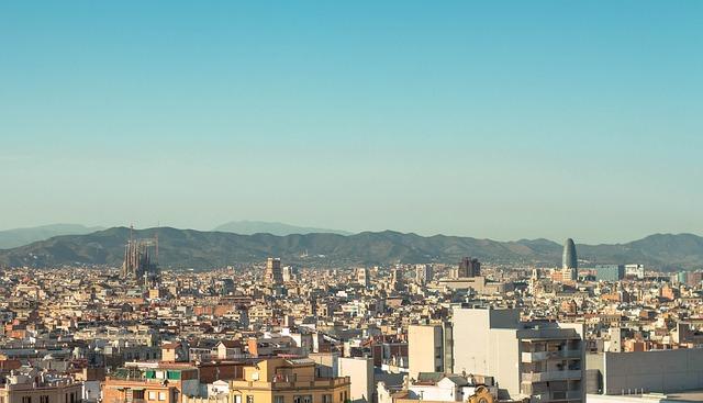 views of barcelona city