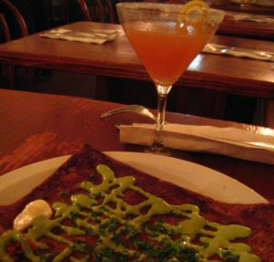 crepe and cocktail