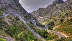 road on collserola mountain