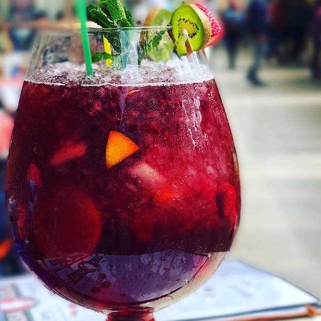 sangria with decorations