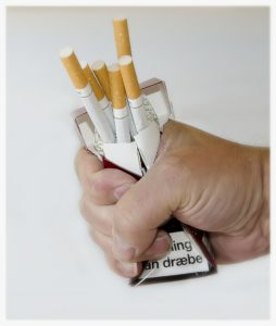 Crushed cigarettes