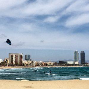 Kitesurfing in Barcelona